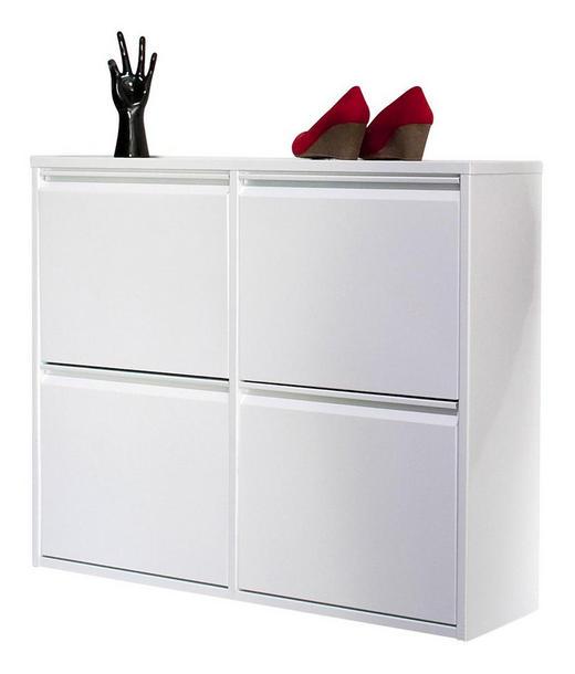 SCHUHKIPPER Weiß - Weiß, Design, Metall (100/78/23cm) - Carryhome