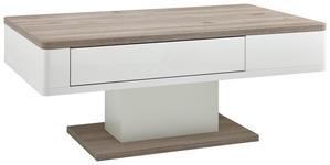 COUCHTISCH rechteckig Weiß, Eichefarben  - Eichefarben/Weiß, KONVENTIONELL (110/65/48cm) - Xora