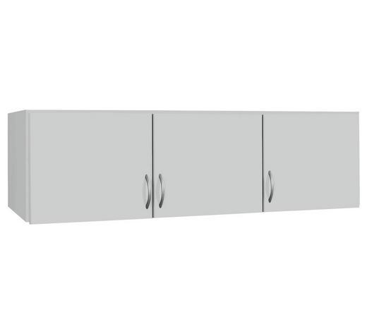 AUFSATZSCHRANK 136/39/54 cm Weiß  - Silberfarben/Weiß, Design, Kunststoff (136/39/54cm) - Carryhome