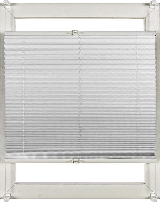 PLISSEE  halbtransparent   60/130 cm - Weiß, Design, Textil (60/130cm) - Homeware
