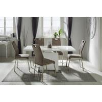 MATBORD - vit/kromfärg, Trend, metall/träbaserade material (140/75/90cm)