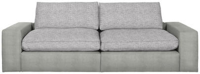 MEGASOFA in Textil Hellgrau - Hellgrau/Schwarz, Design, Kunststoff/Textil (266/84/123cm) - Hom`in