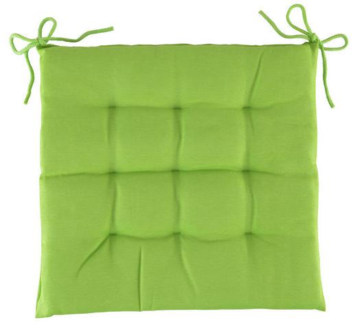 SITZKISSEN - Grün, Basics, Textil (40/40/4cm) - Boxxx