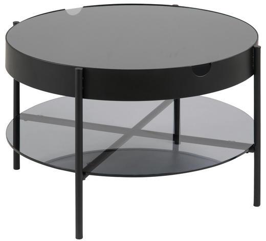 BEISTELLTISCH in Metall, Glas  75/45 cm - Schwarz/Grau, Trend, Glas/Metall (75/45cm) - Ambia Home