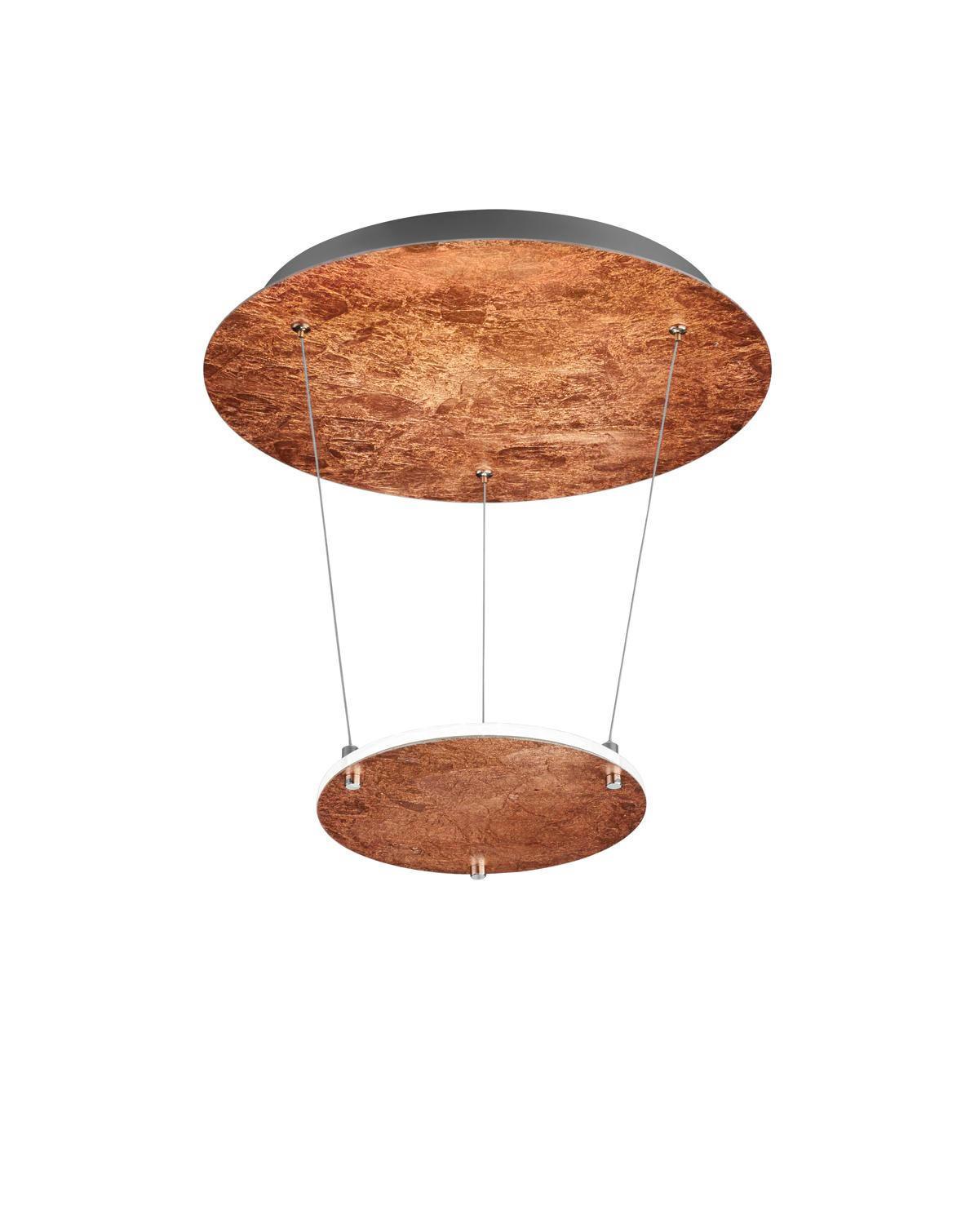 LED-HÄNGELEUCHTE - Kupferfarben, Design, Metall (36,0/50,0cm)