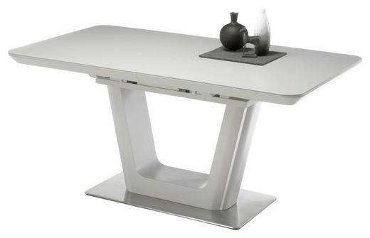 AUSZIEHTISCH Edelstahlfarben, Weiß - Edelstahlfarben/Weiß, Design, Keramik/Metall (160(210)/90/76cm) - Carryhome