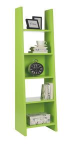 REGÁL - světle zelená, Design, dřevěný materiál (54/187/38cm)