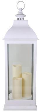 LYKTA - vit, Basics, glas/plast (24/71/24cm) - AMBIA HOME