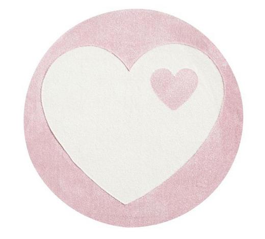 KINDERTEPPICH   Rosa, Weiß   - Rosa/Weiß, Basics, Textil (133cm)