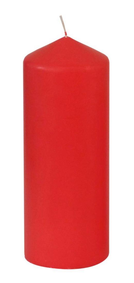 STUMPENKERZE - Rot, Basics (7,7/20cm) - Ambia Home