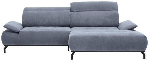 WOHNLANDSCHAFT in Textil Grau - Schwarz/Grau, Design, Textil/Metall (270 175 cm) - Carryhome
