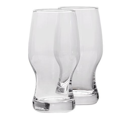 BIERGLAS - Transparent, KONVENTIONELL, Glas (8,60/17,00/8,60cm) - Leonardo
