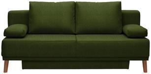 SCHLAFSOFA in Textil Eichefarben, Dunkelgrün  - Dunkelgrün/Eichefarben, Design, Holz/Textil (192/92/90cm) - Novel