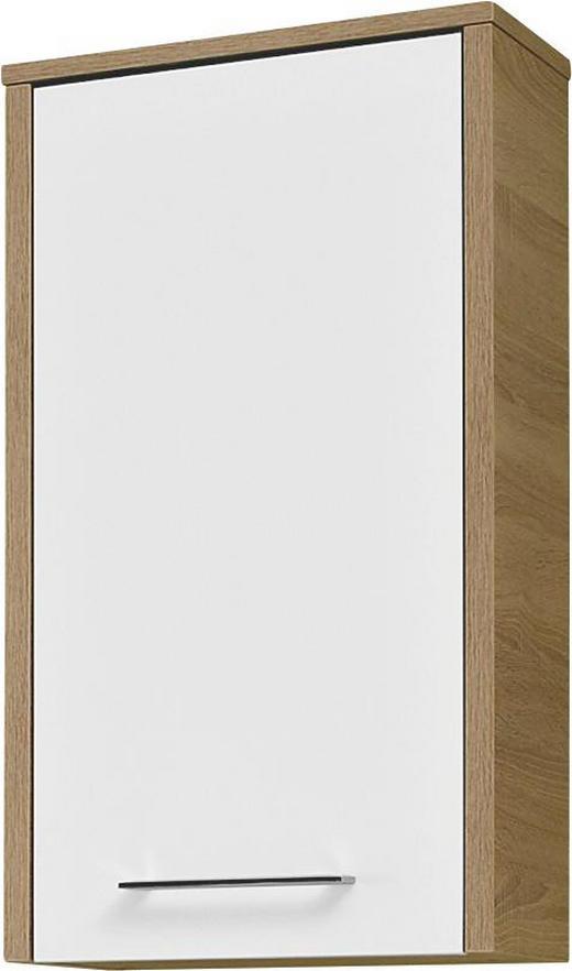 HÄNGESCHRANK Weiß - Chromfarben/Eichefarben, Design, Holzwerkstoff/Metall (40/72/20cm) - Carryhome