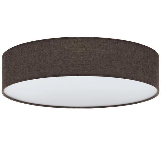 DECKENLEUCHTE - Braun/Weiß, Design, Kunststoff/Textil (57/15cm)