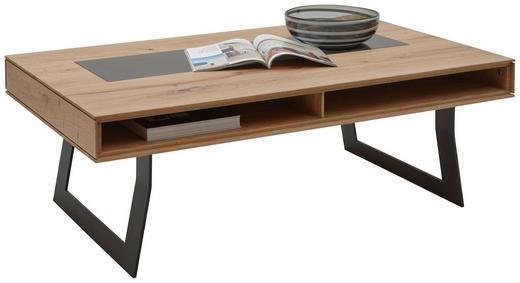 COUCHTISCH in Glas, Holz, Metall - Eichefarben/Anthrazit, Design, Glas/Holz (120/75/43cm) - Valnatura