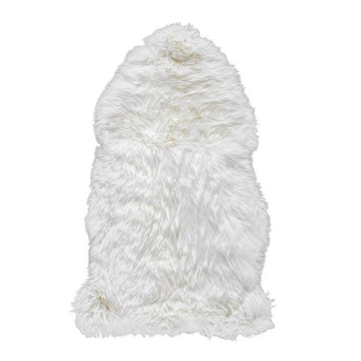 SCHAFFELL  60/95 cm  Weiß - Weiß, Basics, Leder/Fell (60/95cm) - Linea Natura