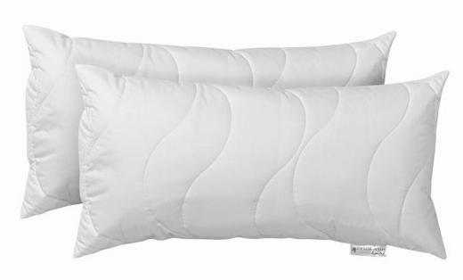Kopfkissen 2er Set  40/80 cm - Weiß, Textil (40/80cm) - Centa-Star