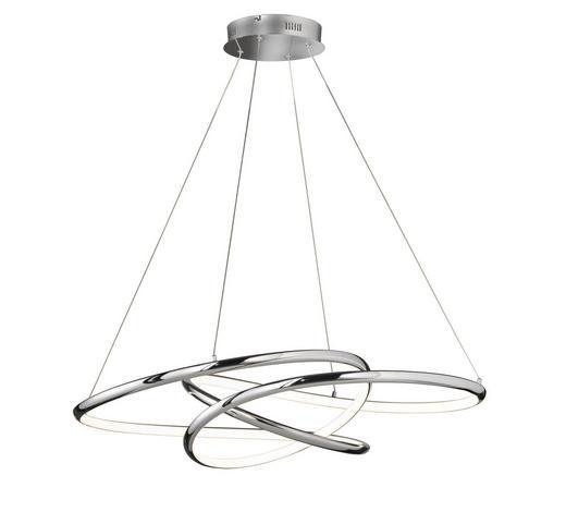 LED-HÄNGELEUCHTE - Chromfarben/Weiß, Design, Kunststoff (69/95cm)