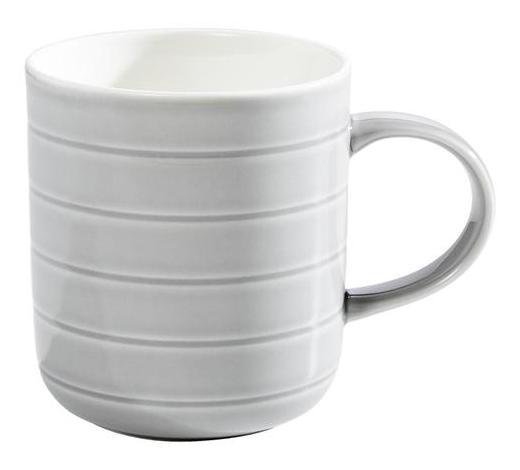 HRNEK NA KÁVU, porcelán - šedá/bílá, Design, keramika (0,35l) - Novel