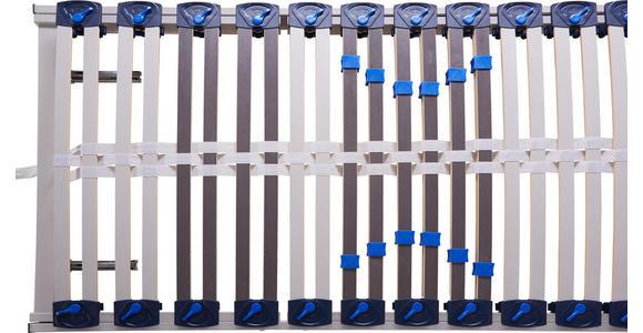 LATTENROST 120/200 cm Birke ,Schichtholz - Hellgrau/Weiß, Basics, Holz (120/200cm) - Voleo