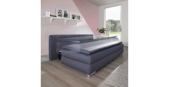 SCHLAFSOFA in Textil Anthrazit  - Anthrazit/Silberfarben, KONVENTIONELL, Kunststoff/Textil (207/94/90cm) - Venda