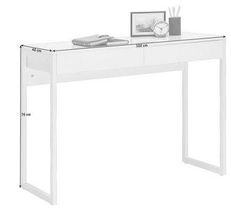 Computertisch In Metall Holzwerkstoff 102 76 40 Cm Online Finden Xxxlutz