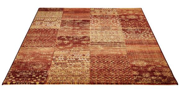 HOCHFLORTEPPICH  67/240 cm  gewebt  Beige, Dunkelrot, Goldfarben, Weinrot - Beige/Weinrot, Basics, Textil (67/240cm) - Novel