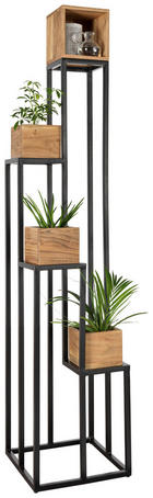 STALAK ZA CVIJEĆE - boje bagrema/crna, Trend, drvo/metal (40/184/40cm) - Ambia Home