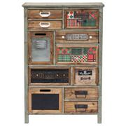 KOMMODE Tanne massiv Multicolor - Multicolor, Design, Holz/Textil (64,5/98/30,3cm) - Kare-Design