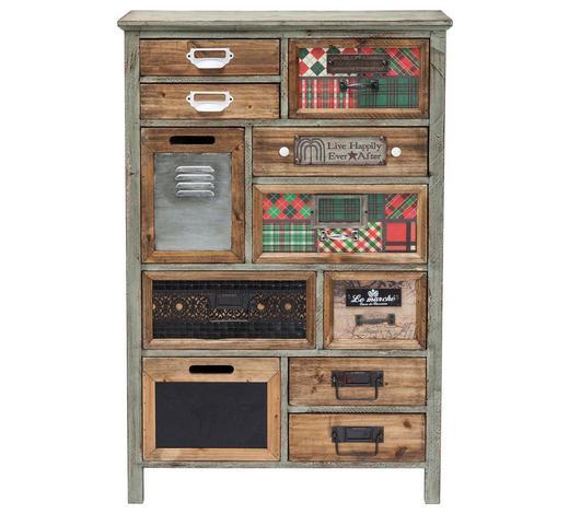 KOMMODE Tanne massiv lackiert Multicolor  - Multicolor, Design, Holz/Textil (64,5/98/30,3cm) - Kare-Design
