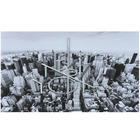 Städte KUNSTDRUCK - Alufarben/Schwarz, Design, Holz/Textil (120/70cm) - Monee
