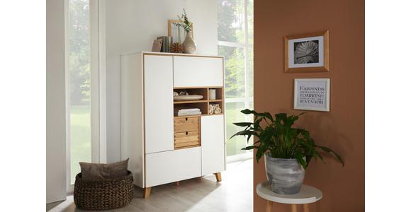 KOMMODE 105,4/142,3/48 cm  - Eichefarben/Weiß, Design, Holz/Holzwerkstoff (105,4/142,3/48cm) - Novel