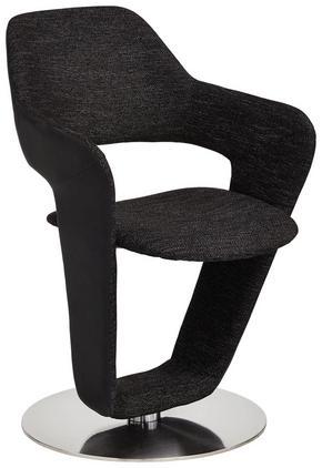 STOL - silver/svart, Design, metall/textil (62/90/62cm) - Novel