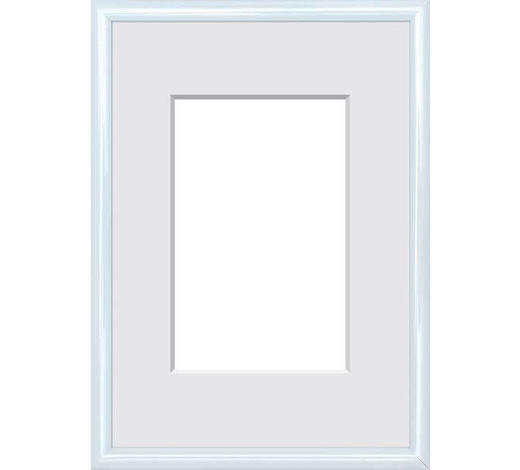 BILDERRAHMEN in Weiß  - Weiß, Basics, Glas/Kunststoff (18/24cm)