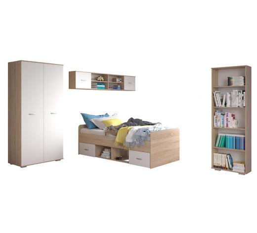 SOBA ZA MLADE - bijela/hrast Sonoma, Moderno, drvni materijal - Carryhome