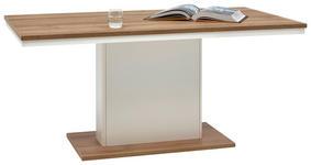 ESSTISCH rechteckig Eichefarben, Weiß - Eichefarben/Weiß, Design (160/90/73,6cm) - Hom`in