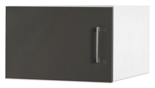 AUFSATZSCHRANK 50/32/57 cm Grau, Weiß - Chromfarben/Weiß, Design, Metall (50/32/57cm) - Carryhome