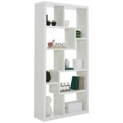REGÁL, bílá - bílá, Design, kompozitní dřevo (90/188,5/28,8cm) - Carryhome