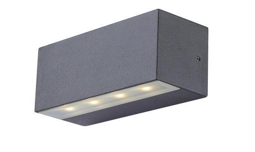 AUßENLEUCHTE - Grau, Design, Glas/Metall (13,5/5,7/5,3cm)