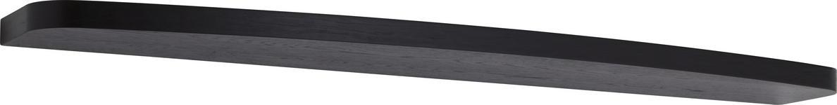WANDBOARD in 130/3/27 cm Schwarz  - Schwarz, Design, Holz/Holzwerkstoff (130/3/27cm) - Ambiente