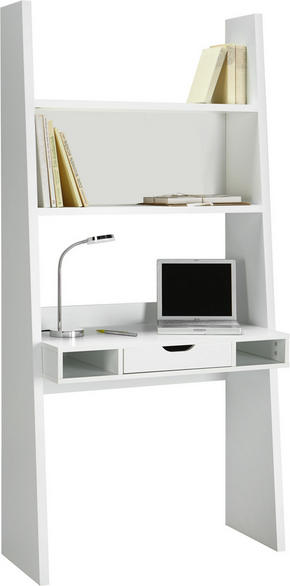 SKRIVBORD - vit, Design, träbaserade material (90/186/46cm) - Carryhome