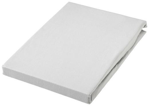 SPLIT TOPPER Jersey Silberfarben bügelfrei - Silberfarben, Basics, Textil (200/220cm)