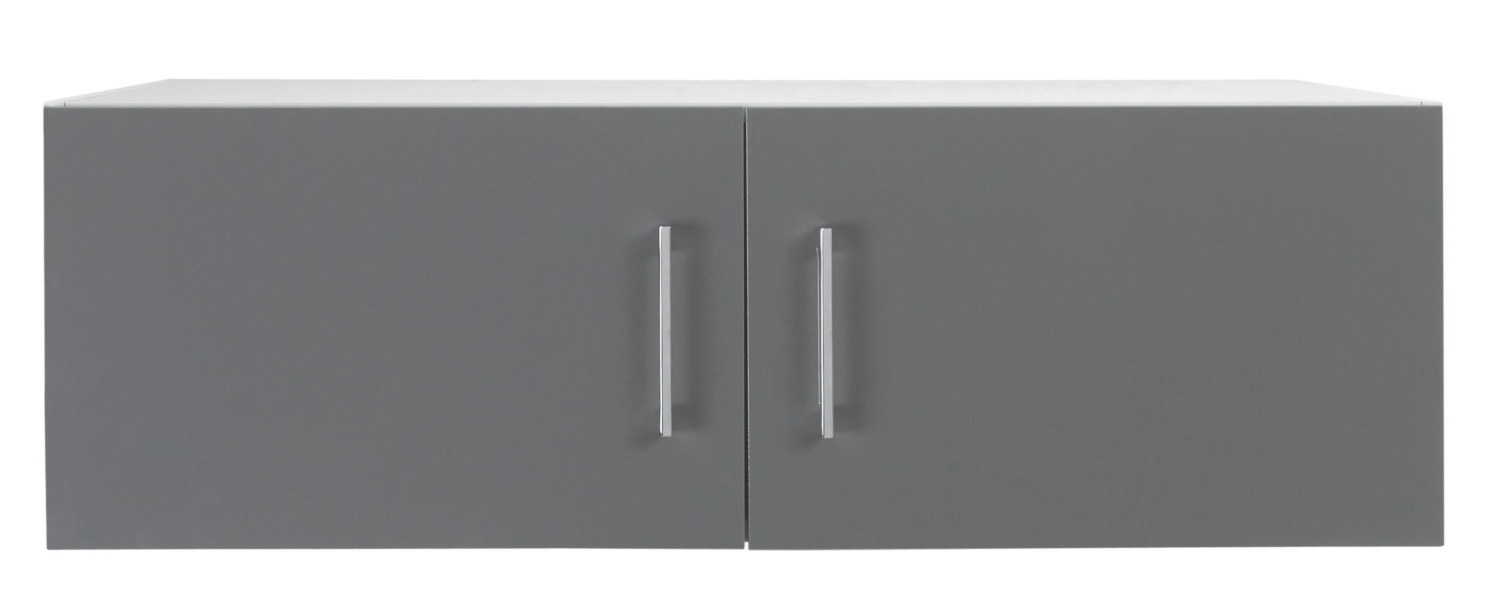 AUFSATZSCHRANK - Chromfarben/Weiß, Design, Holzwerkstoff/Metall (100/32/57cm) - WELNOVA