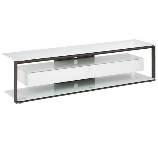 TV-RACK in Anthrazit, Weiß - Anthrazit/Weiß, KONVENTIONELL, Glas/Holzwerkstoff (170/42/40cm)