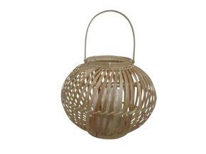 LYKTA - naturfärgad, Natur, glas/trä (25/21cm) - Ambia Home