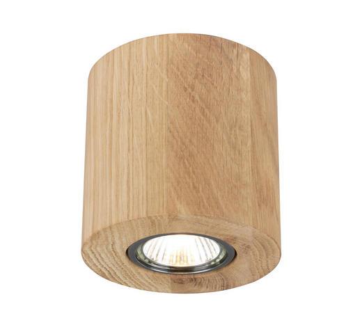 LED-DECKENLEUCHTE   - Eichefarben, Natur, Holz (10/10/10cm) - Dieter Knoll