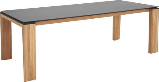 ESSTISCH in Holz, Keramik 220/95/77 cm - Eichefarben/Graphitfarben, Design, Holz/Keramik (220/95/77cm)