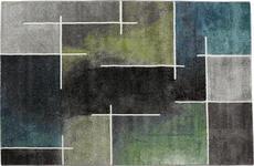 Webteppich Mike - Blau/Grün, KONVENTIONELL, Textil (200/290cm) - Ombra