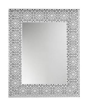 VÄGGSPEGEL - vit/silver, Design, glas/trä (78/63/2,5cm)